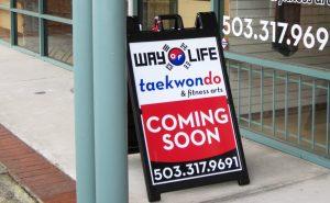 custom a-frame promotional sign