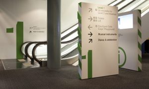 custom wayfinding signage indoor sign